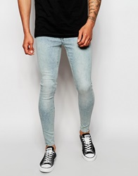 Cheap Monday Jeans Low Spray Extreme Super Skinny Fit Super Light Blue Superlightblue