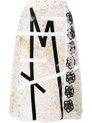 Christopher Kane Lace Embroidered Midi Skirt Nude And Neutrals