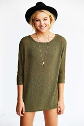 Silence And Noise Silence Noise Edge It Up Dolman Tunic Top Green
