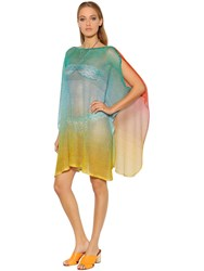Missoni Gradient Fishnet Knit Caftan Dress