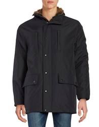 S13 Faux Fur Lined Parka Black