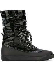 Moncler Lace Up Snow Boots Black