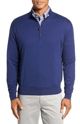 Peter Millar Men's Crown Quarter Zip Sweater Grey Sound