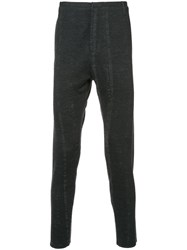 Label Under Construction Distressed Skinny Trousers Wool Grey