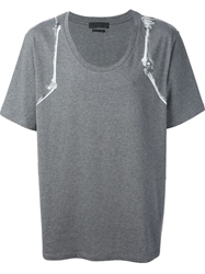 Alexander Mcqueen Skeleton Arm T Shirt Grey