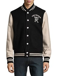 True Religion Ribbed Long Sleeve Jacket Black