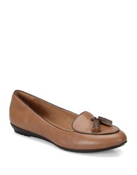 Sofft Bryce Tan Leather Loafers Whiskey