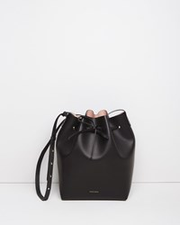 Mansur Gavriel Bucket Bag Black With Ballerina Pink Interior