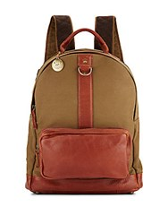 Will Leather Goods Signature Canvas And Leather Backpack Tobacco Sand
