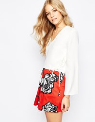 Finders Keepers Fly Away Tie Side Top White