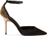 Burberry Black Embellished Alanson Heels