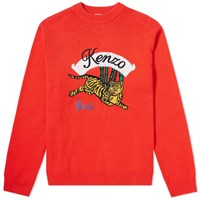 Kenzo Jumping Tiger Crew Knit Red