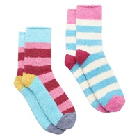 Joules Fabfluffy Ankle Socks Gift Set Pack Of 2 Pink