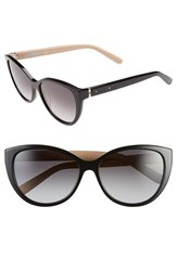 Women's Bobbi Brown 'The Marylins' 56Mm Cat Eye Sunglasses Black Nude