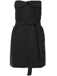 Unravel Project Strapless Belted Mini Dress Black
