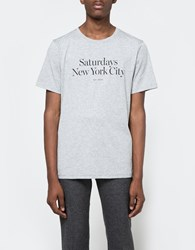 Saturdays Surf Nyc Miller Standard Tee Ash Heather