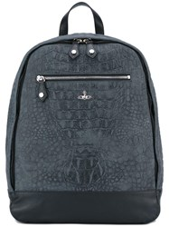 Vivienne Westwood Crocodile Skin Effect Backpack Grey