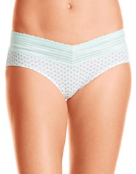 Warner's Lace Trimmed Hipster Panties Blue Tint Multi