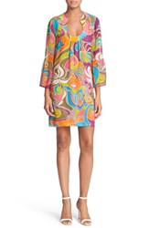 Women's Trina Turk 'Bonita' Print Silk Shift Dress