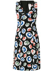 Chanel Vintage Floral Print Dress Black