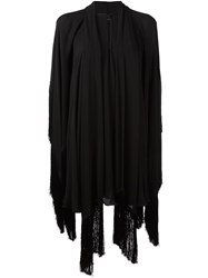 Plein Sud Jeans Draped Tunic Dress Black