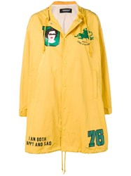 Undercover Patch Parka Coat Yellow