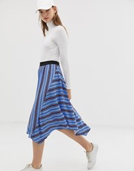 B.Young Stripe Asymmetric Skirt Multi