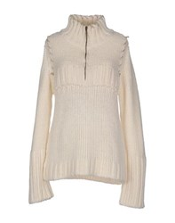 Just Cavalli Knitwear Turtlenecks Women Ivory