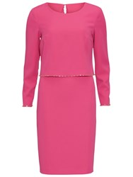Gina Bacconi Crepe Dress With Beaded Overtop Pink