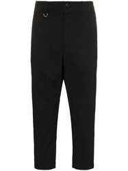 Sophnet. Drop Crotch Cropped Trousers Black