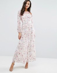 Miss Selfridge Lace And Floral Maxi Dress Multi