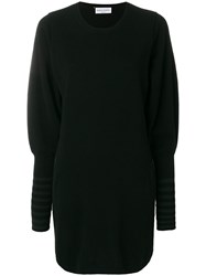 Sonia Rykiel Structured Knit Dress Polyester Cashmere L Black
