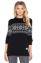 Penfield Hickman Snowflake Sweater Black