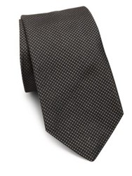 Polo Ralph Lauren Geometric Pattern Silk Tie Black