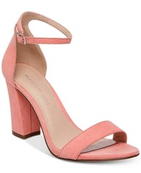 Madden Girl Bella Two Piece Block Heel Sandals Coral