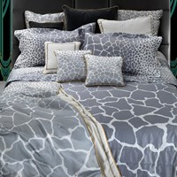 Roberto Cavalli Jerapah Duvet Set Super King Grey