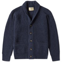 Journal Standard Ribbed Shawl Cardigan Blue