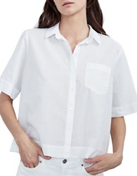 Velvet By Graham And Spencer Relaxed Fit Casual Cotton Shirt White