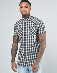 Diesel S Zule Short Sleeve Shirt Check Western Black