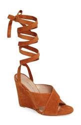 Charles By Charles David Women's Quest Wraparound Lace Sandal Rust Suede