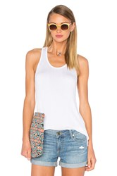 Nation Ltd. Georgie Racer Tank White