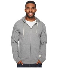 Dc Rebel Fleece Zip Hoodie Charcoal Heather Men's Clothing Gray