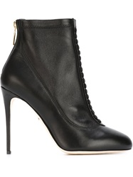 Dolce And Gabbana Stiletto Booties Black