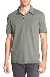 James Perse Men's Trim Fit Sueded Jersey Polo Jungle