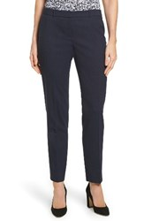 Boss Women's Tiluna Slim Wool Ankle Trousers Navy