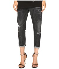 Dsquared Cool Girl Cropped Jeans In Sparkle Wash Black