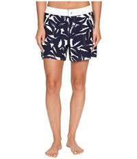 Tommy Bahama Graphic Jungle Snap Front Boardshorts Mare Navy White Women's Swimwear Gray