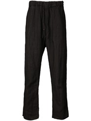 Poeme Bohemien Straight Trousers Black