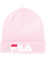 Fila Slouchy Knitted Beaniie Pink And Purple