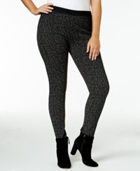 Rachel Roy Curvy Trendy Plus Size Jacquard Skinny Pants Only At Macy's Black White